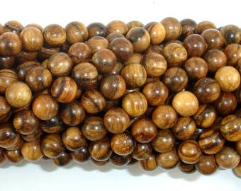 Vietnam Qinan Sandalwood Beads, 6mm(6.3mm) Round Beads, 25 Inch, Full strand, Approx 108 Beads, Mala Beads (011738001)