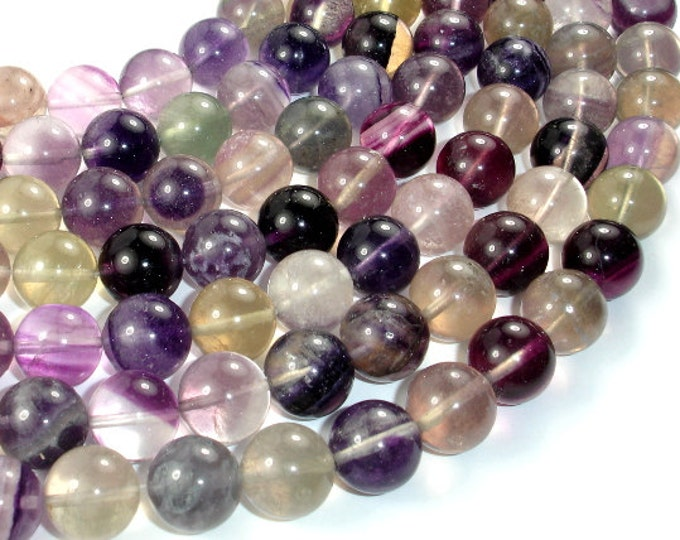 Fluorite Beads, Round, 14mm, 16 Inch, Full strand, Approx 29 beads, Hole 1 mm, AB quality (224054015)