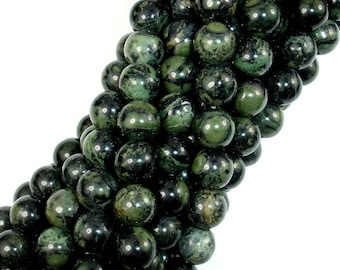 Kambaba Jasper Beads, 8mm(8.5mm) Round Beads, 15.5 Inch, Full strand, Approx 47 beads, Hole 1 mm, A quality (290054003)