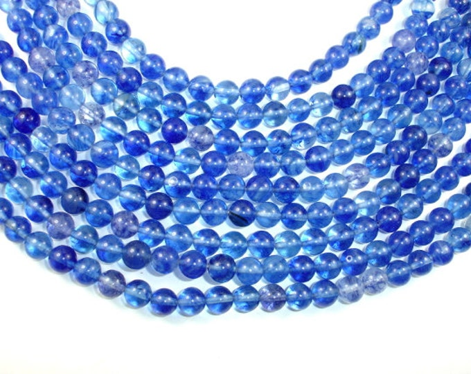 Blueberry Quartz , 8mm (8.8 mm) Round bead, 15.5 Inch, Full strand, Approx 48 beads, Hole 1 mm (156054001)