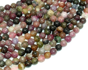 Tourmaline Beads, 6.5mm(6.8mm) Round Beads, 15.5 Inch, Full strand, Approx 60-62 beads, Hole 0.8mm, A- quality (427054017)