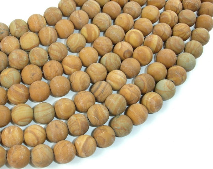 Matte Wood Jasper Beads, 10mm (10.3 mm), 15 Inch, Full strand, Approx 38 beads, Hole 1 mm, A quality (437054010)