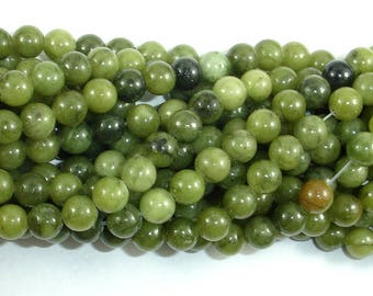 Jade Beads, 6mm(6.5mm) Round Beads, 15 Inch, Full strand, Approx 60 beads, Hole 1 mm, A quality (287054034)
