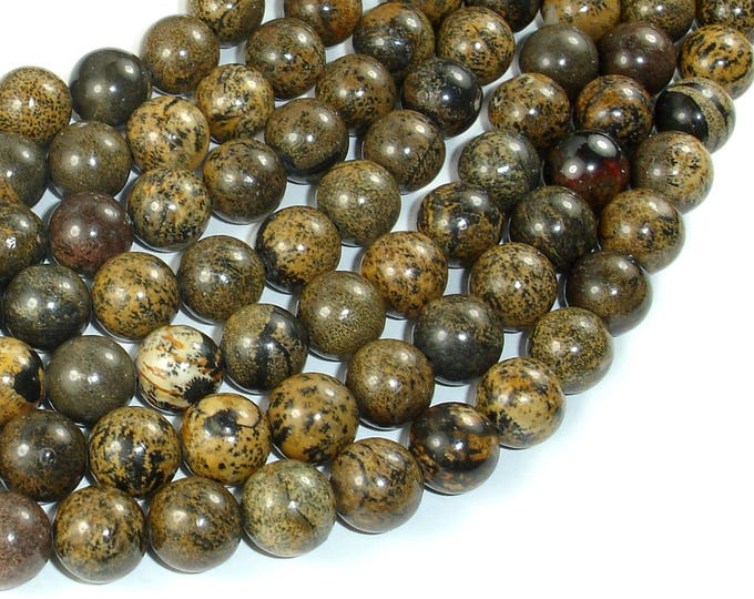 Artistic Jasper Beads, 10mm, Round, 16 Inch, Full strand, Approx 40 beads, Hole 1mm, A quality (119054020)