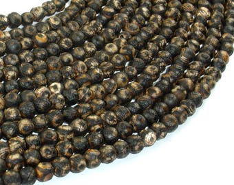 Crackle Tibetan Agate, 6mm Round Beads, 13.5 Inch, Full strand, Approx 64 beads, Hole 1mm (122054234)