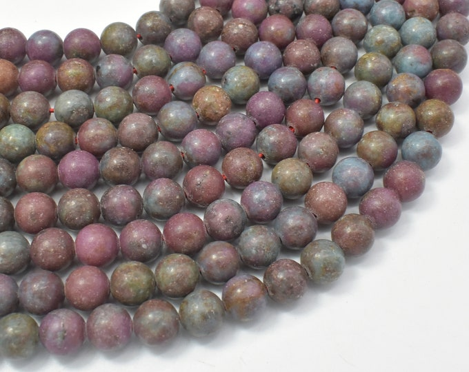 Ruby in Kyanite, Ruby Apatite, 8mm (8.5mm) Round Beads, 15.5 Inch, Full stand, Approx 47 beads, Hole 1mm (309054005)