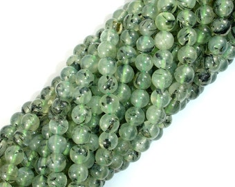 Prehnite Beads, 6mm(6.5mm) Round Beads, 15.5 Inch, Full strand, Approx 62-67 beads, Hole 0.8mm, Wholesale Beads Supply (265054007)