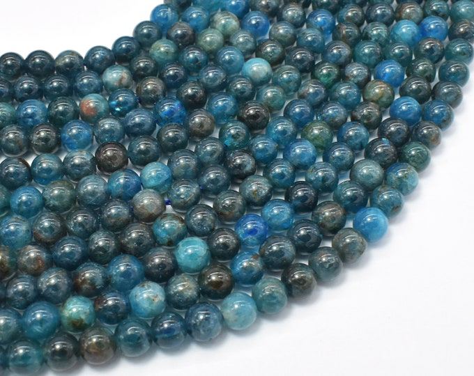 Apatite Beads, 6mm Round Beads, 15 Inch, Full strand, Approx 65-68 beads, Hole 0.8mm (120054012)