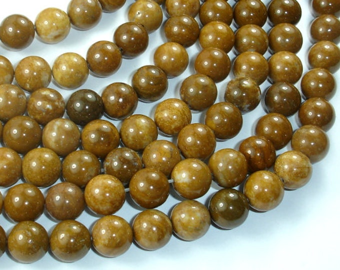 Agate Beads-Brown, 10mm(10.4mm) Round Beads, 15 Inch, Full strand, Approx 37 beads, Hole 1mm (122054284)
