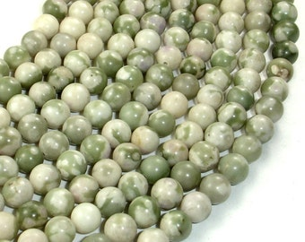 Peace Jade Beads, Round, 6mm, 16 Inch, Full strand, Approx 62 beads, Hole 0.8 mm (338054002)