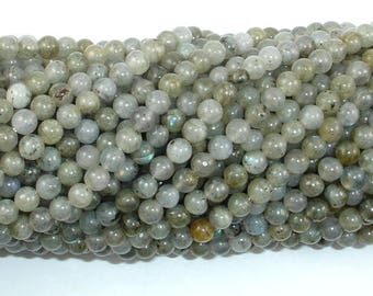 Labradorite Beads, 4mm(4.5mm) Round Beads, 15.5 Inch, Full strand, Approx 90 beads, Hole 0.8 mm (295054020)