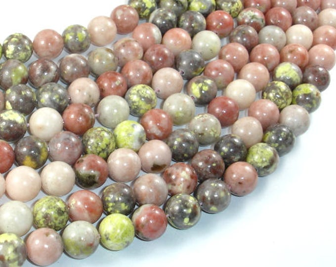 Spicy Jasper Beads, Plum Blossom Jasper, 10mm(10.2mm) Round Beads, 15.5 Inch, Full strand, Approx 39 beads, Hole 1mm, A quality (288054036)