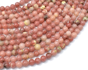 Spicy Jasper Beads, Plum Blossom Jasper, 6 mm Round Beads, 15.5 Inch, Full strand, Approx 65 beads, Hole 0.8mm, A+ quality (288054040)