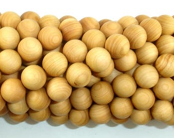 Cedar Wood Beads, Thuja Sutchuenensis, 10mm Round, 43 Inch, Full strand, Approx 108 Beads, Mala Beads (011730003)