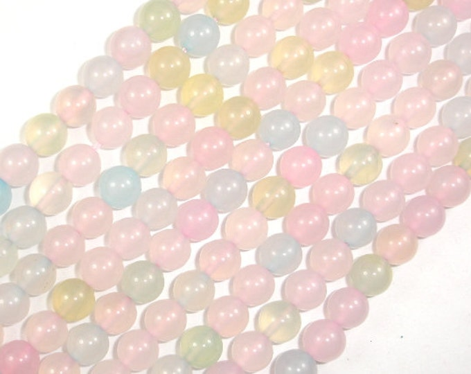 Agate Beads, Multi color, 8mm Round Beads, 15 Inch, Full strand, Approx 48 beads, Hole 1 mm, A+ quality (122054168)