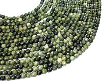 Russian Serpentine Beads, Round, 6 mm, 15.5 Inch, Full strand, Approx 62 beads, Hole 1 mm (395054003)