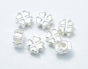 6pcs 925 Sterling Silver Beads-Flower, 5x5mm, Hole 1.4mm (007903006)