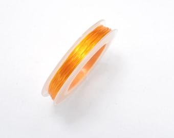 2Rolls Orange Stretch Elastic Beading Cord, 0.5mm, 2 Rolls-20 Meters (006875015)