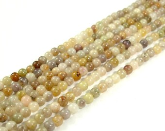 Silver Leaf Jasper Beads, Round, 2 mm, 16 Inch, Full strand, Approx 180 beads, Hole 0.4 mm (406054001)