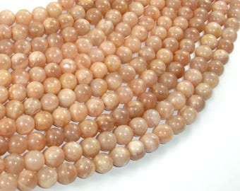 Sunstone Beads, Round, 6mm (6.3mm), 15.5 Inch, Full strand, Approx 65 beads, Hole 0.8mm (418054010)