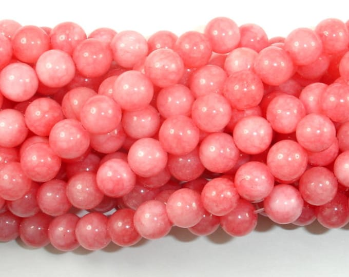 Jade Beads-Pink, 8mm Round Beads, 15 Inch, Full strand, Approx 47 beads, Hole 1mm (211054171)