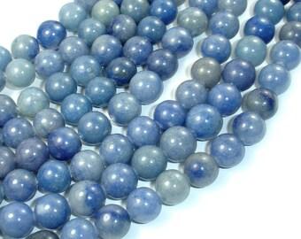Blue Aventurine, 10mm Round Beads, 15 Inch, Full strand, Approx 38 beads, Hole 1 mm (151054003)