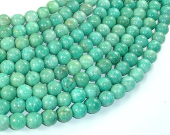 African Amazonite Beads, 8mm(8.5mm) Round Beads , 15.5 Inch, Full strand, Approx 46 beads, Hole 1mm (103054008)