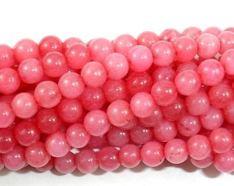 Dyed Jade Beads, Round, 4 mm (4.5 mm), 15 Inch, Full strand, Approx 90 beads, Hole 0.8 mm (211054122)