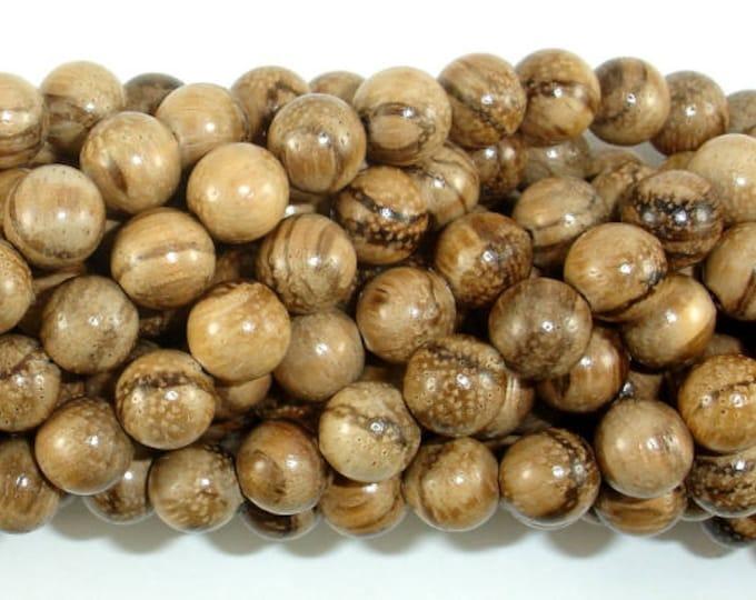 Aqarwood Beads, 8mm(8.3mm) Round Beads, 34 Inch, Full strand, Approx 108 Beads, Mala Beads (011742002)