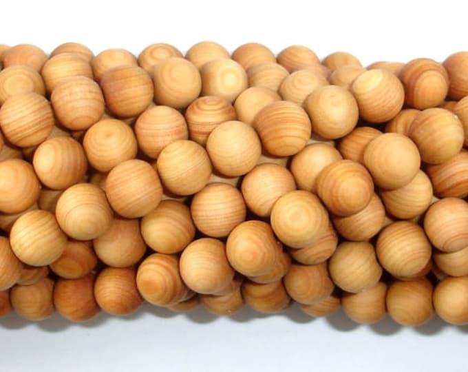Cedar Wood Beads, Thuja Sutchuenensis, 8mm Round, 35 Inch, Full strand, Approx 108 Beads, Mala Beads (011730001)