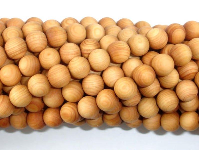 Cedar Wood Beads Thuja Sutchuenensis 8mm Round 35 Inch image 1