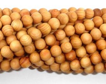 Cedar Wood  Beads, Thuja Sutchuenensis, 6mm(6.5mm) Round, 26 Inch, Full strand, Approx 108 Beads, Hole 1.2mm, Mala Beads (011730002)