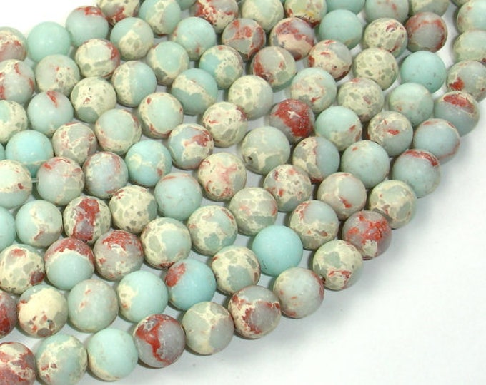 Matte Impression Jasper, 8mm(8.3mm) Round Beads, 15 Inch, Full strand, Approx 46 beads, Hole 1mm (281054037)