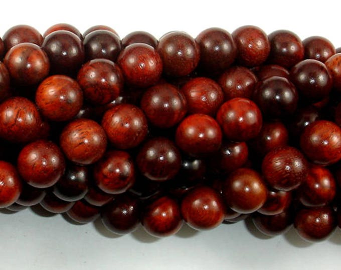 Rosewood Beads, 10mm Round Beads, 42 Inch, Full strand, Approx 108 Beads, Mala Beads (011737006)