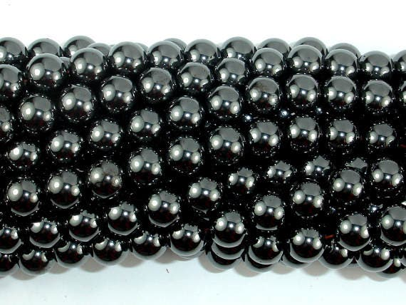 Hematite Beads-Silver 8mm Round Beads 15.5 Inch, 269054012