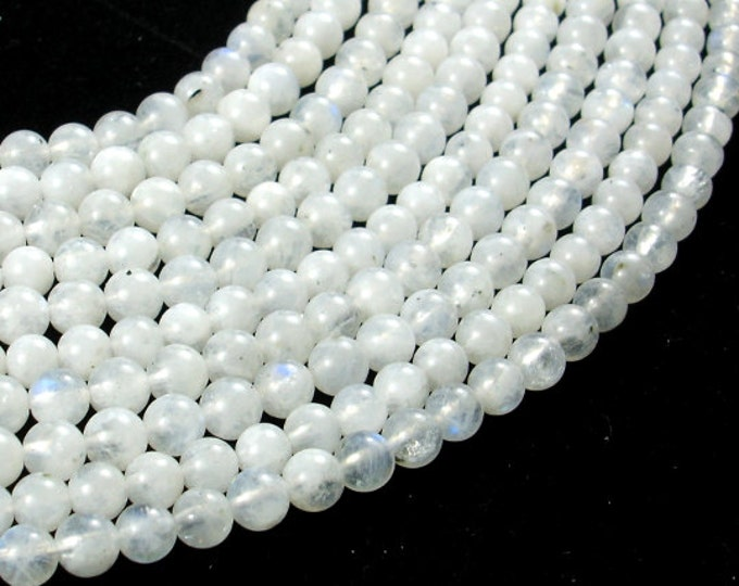 Moonstone Beads, Round, 4mm, 15.5 Inch, Full strand, Approx 90-105 beads, Hole 0.6 mm, A quality (321054019)
