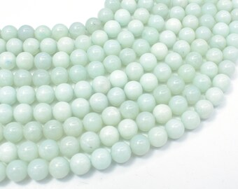 Amazonite Beads, Round, 8mm(8.3mm), 15.5 Inch, Full strand, Approx 46-49 beads, Full strand, Hole 1mm (111054003)