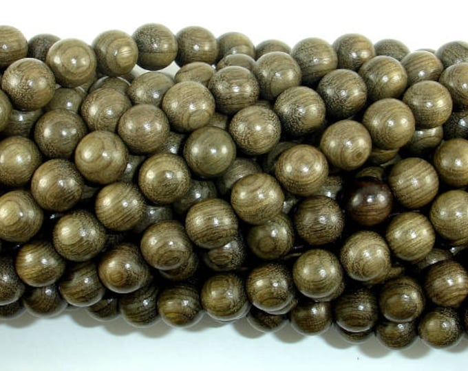 Green Silkwood Beads, 8mm(8.2mm) Round Beads, 35 Inch, Full strand, Approx 108 Beads, Mala Beads (011746001)
