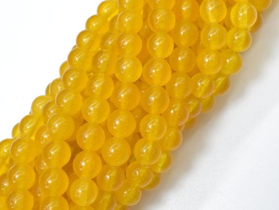15.5 Inch, 6mm 238054001 6.5mm Round Beads Honey Jade Beads