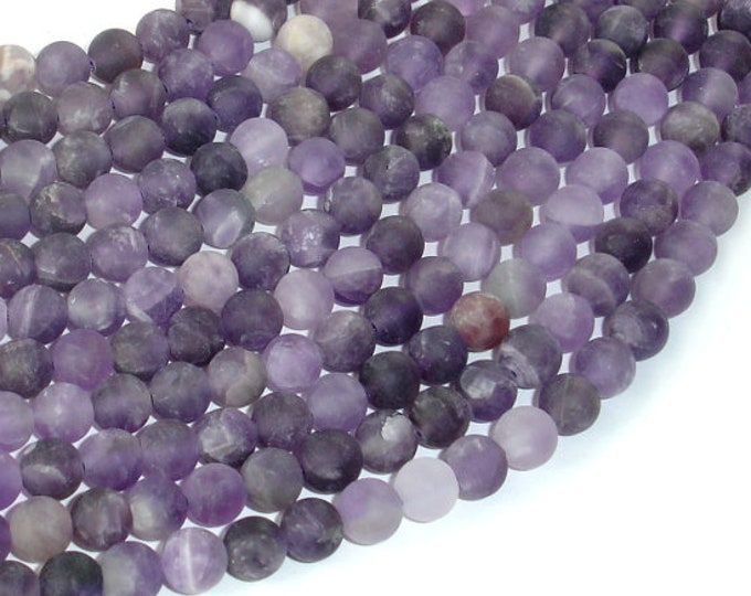 Matte Amethyst Beads,6mm (6.3mm) Round Beads, 15.5 Inch, Full strand, Approx 64 beads, Hole 1mm (115054053)