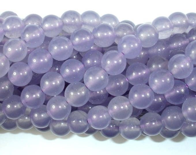 Jade Beads-Light Purple, 8mm Round Beads, 15 Inch, Full strand, Approx 49 beads, Hole 1mm (211054166)