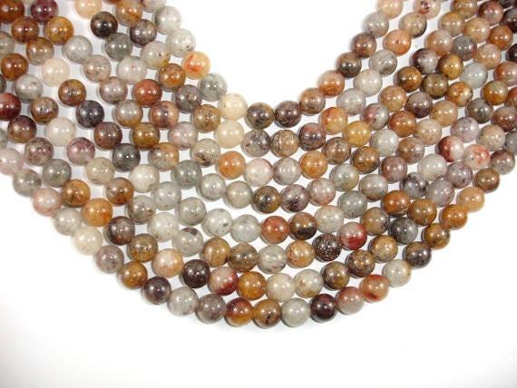 Lodolite Quartz 178054002 8mm Round Beads 15.5 Inch,