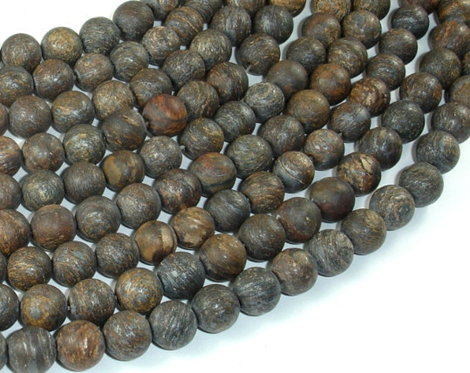 Matte Bronzite Beads, 8mm Round Beads, 15 Inch, Full strand, Approx 46 beads, Hole 1mm, A quality (174054009)
