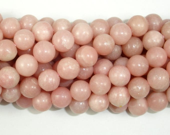 Pink Opal, 8mm Round Beads, 15.5 Inch, Full strand, Approx 51 beads, Hole 1mm (350054004)