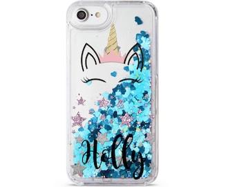 Unicorn Glitter Case iPhone X iPhone 5C Case Coque iPhone 6 Liquid iPhone  6S Case Own Name iPhone 8 Plus iPhone 7 Plus iPhone 6 Plus CM1490 9bbbcaa36