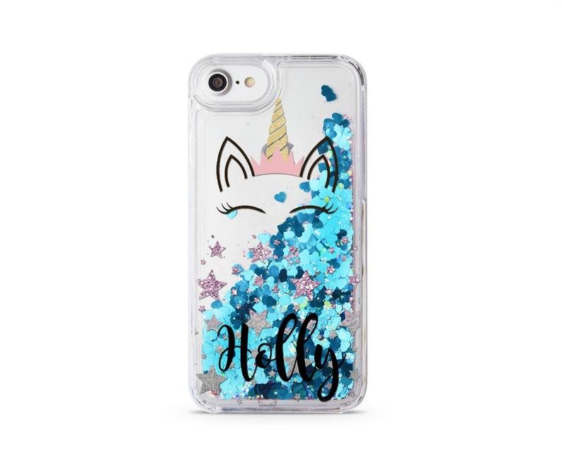 newest 1076c 53a36 Unicorn Glitter Case iPhone X iPhone 5C Case Coque iPhone 6 Liquid iPhone  6S Case Own Name iPhone 8 Plus iPhone 7 Plus iPhone 6 Plus CM1490