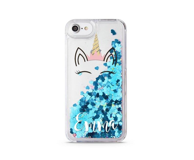 huge selection of 42c6e 062bc Unicorn Glitter Case iPhone XS iPhone 5C Max Coque iPhone X Custom iPhone  6S Case Own Name iPhone 8 Plus iPhone 7 Plus iPhone 6 Plus CM1490