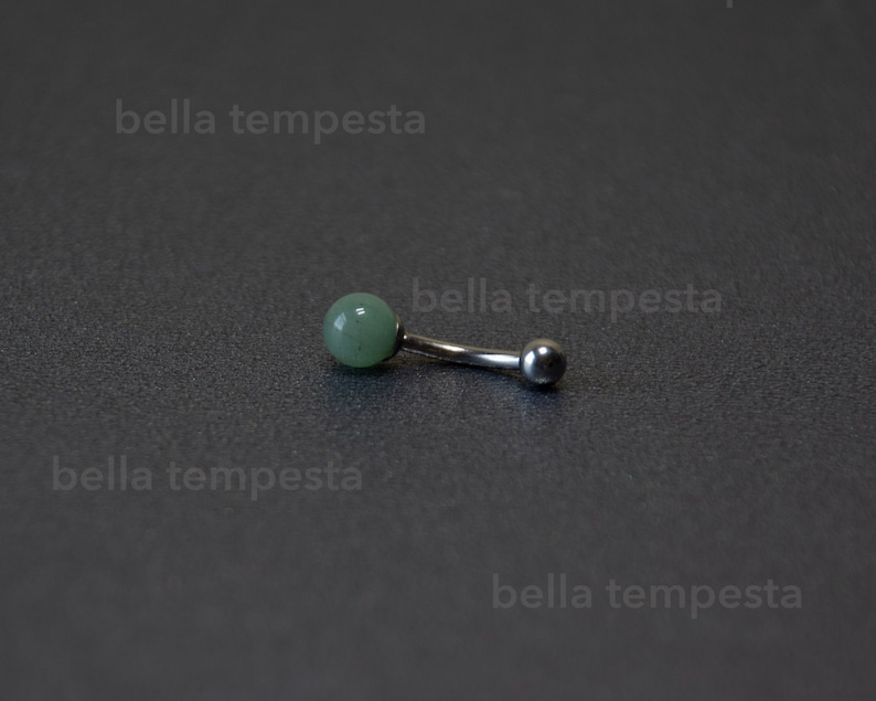 Dainty Green AVENTURINE Belly Ring   Belly Button Ring  image 0