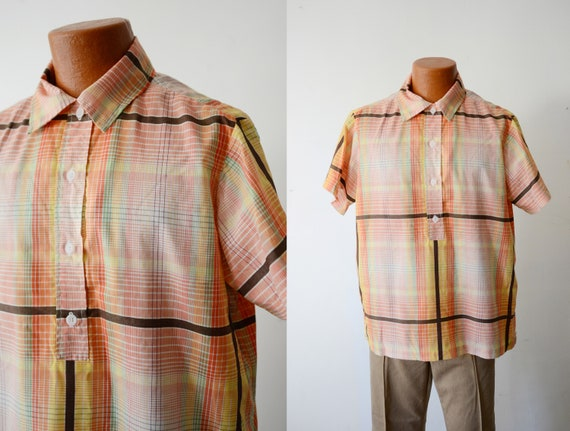 Vintage Rainbow Plaid Shirt