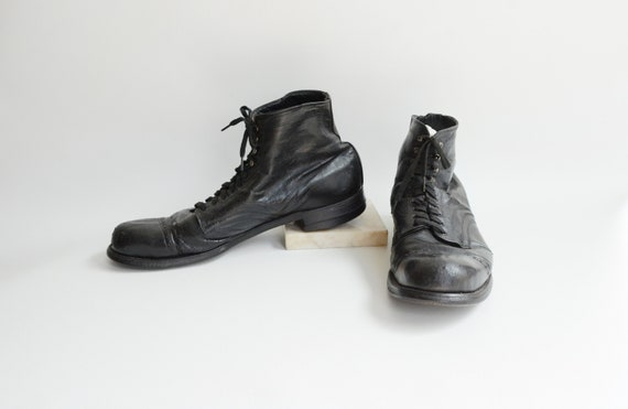Edwardian Black Mens Boots As Is